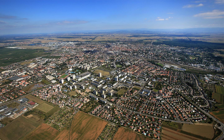 Vue aérienne de Colmar