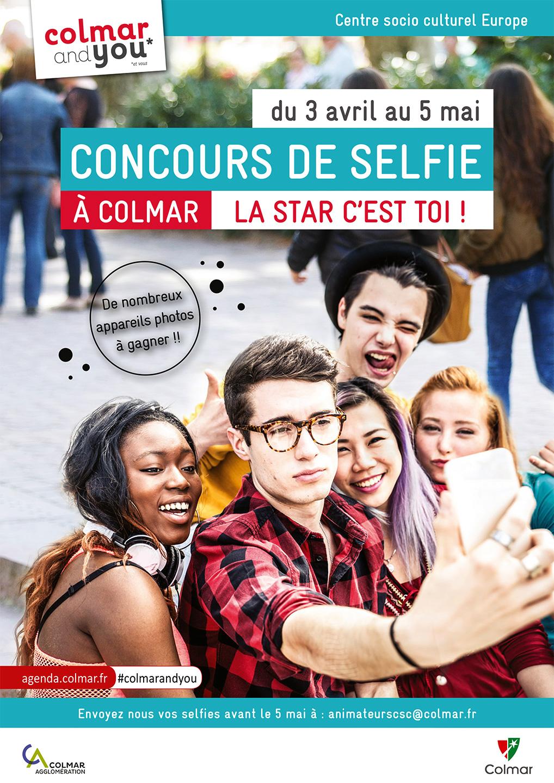 Affiche 2017 du concours de selfie à Colmar