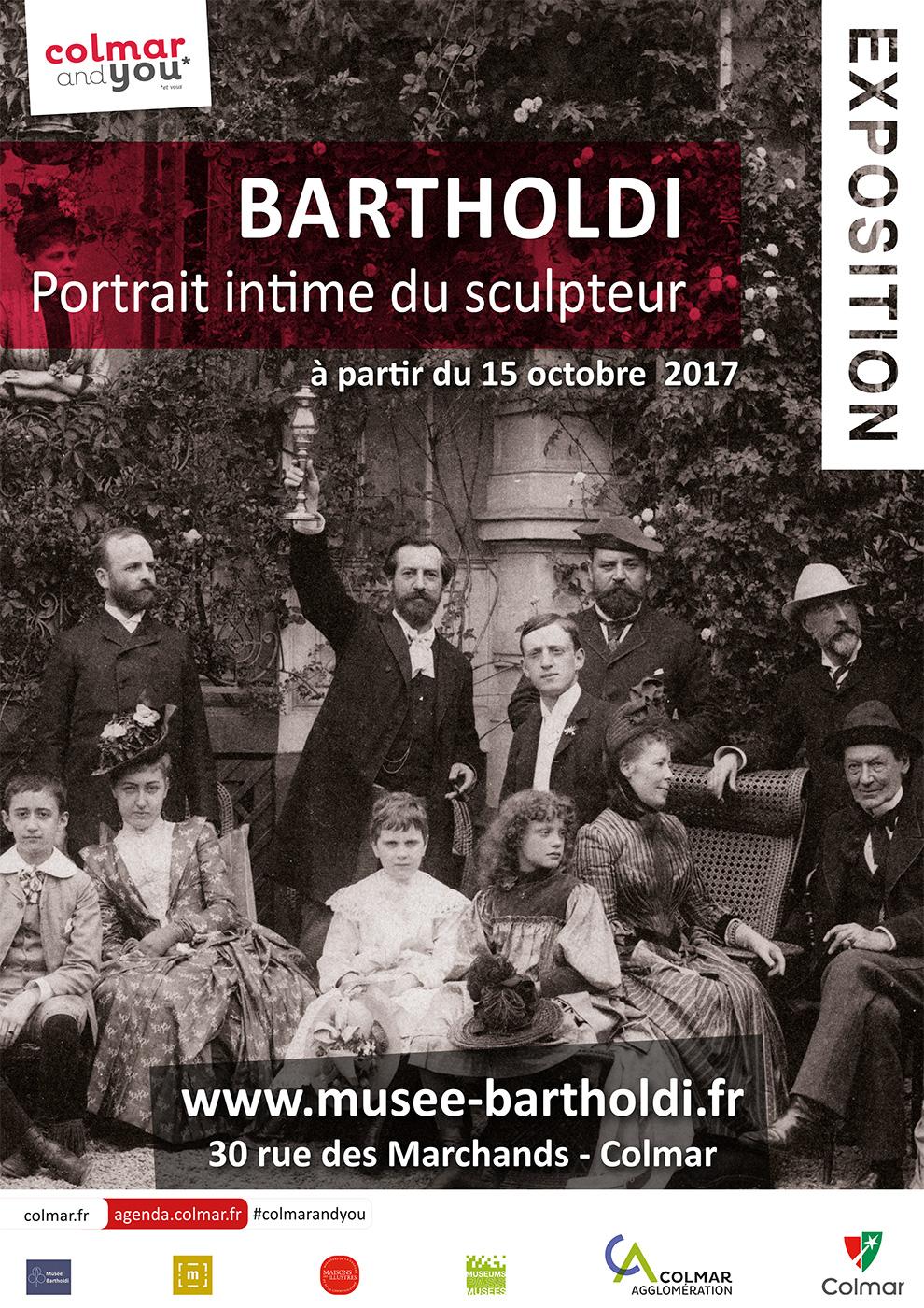 Affiche de l'exposition « Bartholdi, portrait intime du sculpteur, l'exposition »
