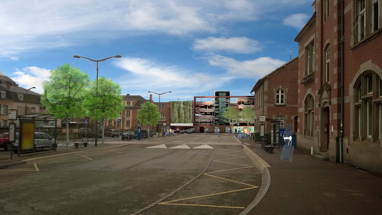 Le parking Bleyle : vue 3D du projet