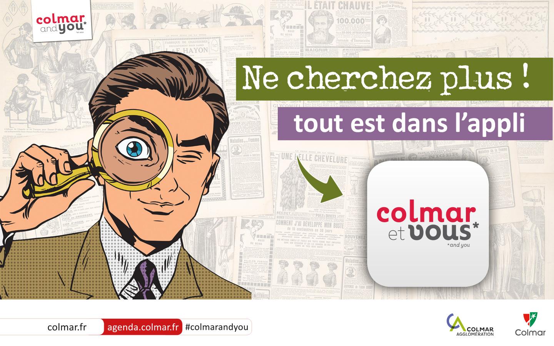 """Slide pour l'application """"Colmar et vous"""""""