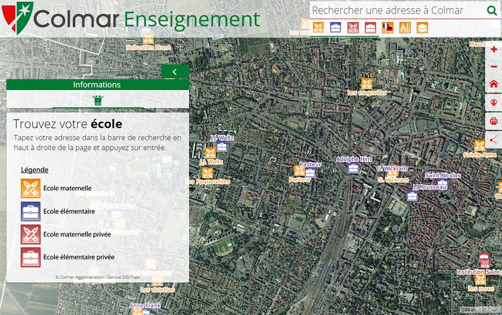 Carte interactive - secteur scolaire