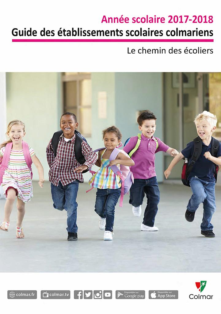 Page de garde du guide des établissements scolaires colmariens - Année scolaire 2017-2018