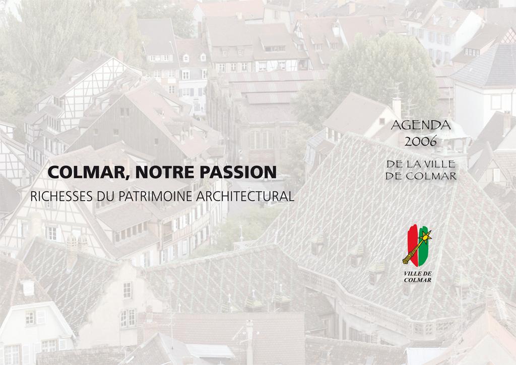 Couverture de l'agenda 2006 de la ville de Colmar