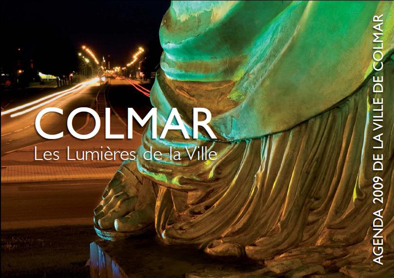 Couverture de l'agenda 2009 de la ville de Colmar