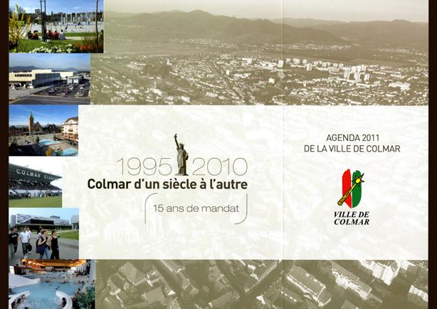 Couverture de l'agenda 2011 de la ville de Colmar