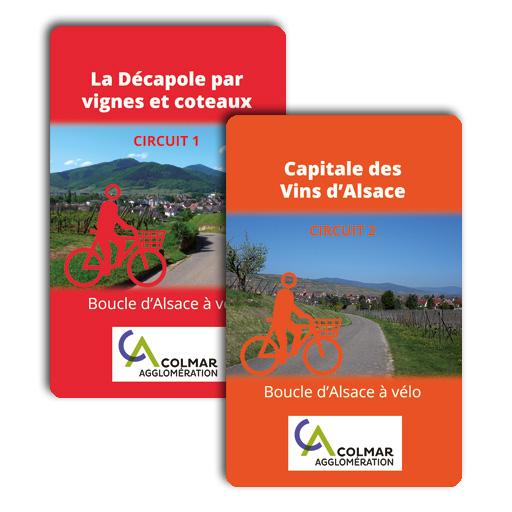 Colmar agglo à vélo : carte Z - circuit 1 et circuit 2