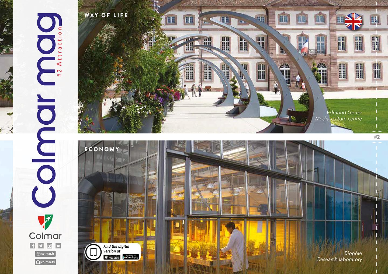 Couverture du Colmar mag #2 - Attractivité (version anglaise)