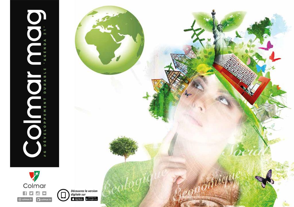 """Couverture du Colmar mag #6 - Développement durable """"Agenda 21"""""""
