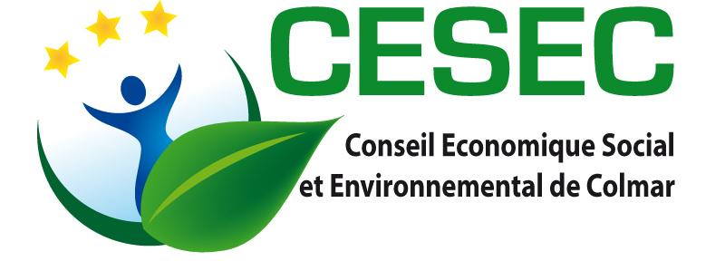Le logo du conseil économique social et environnemental de Colmar (cesec)
