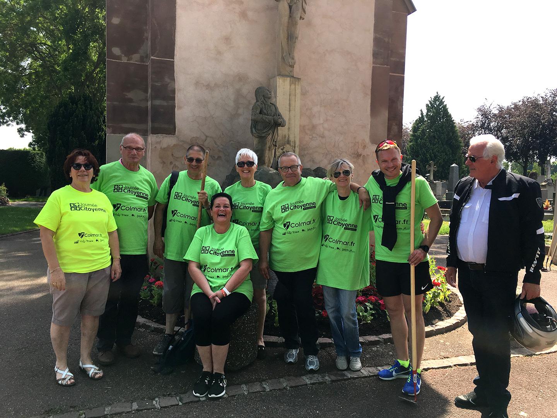 Des membres du cesec lors de la journée citoyenne de Colmar le 25 mai 2018
