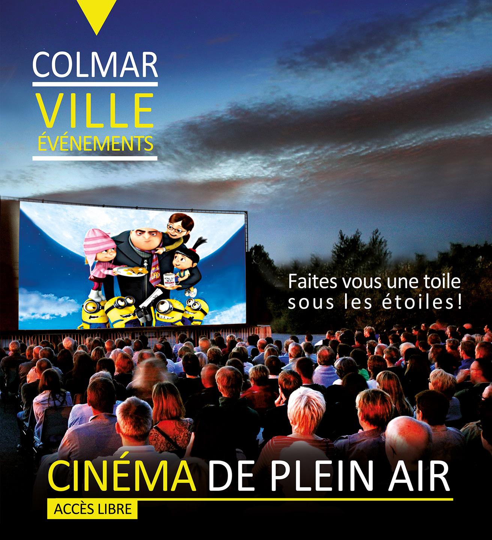 Visuel pour le cinéma de plein air de Colmar