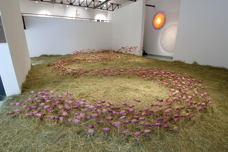 Salle d'exposition à l'espace d'art contemporain André Malraux