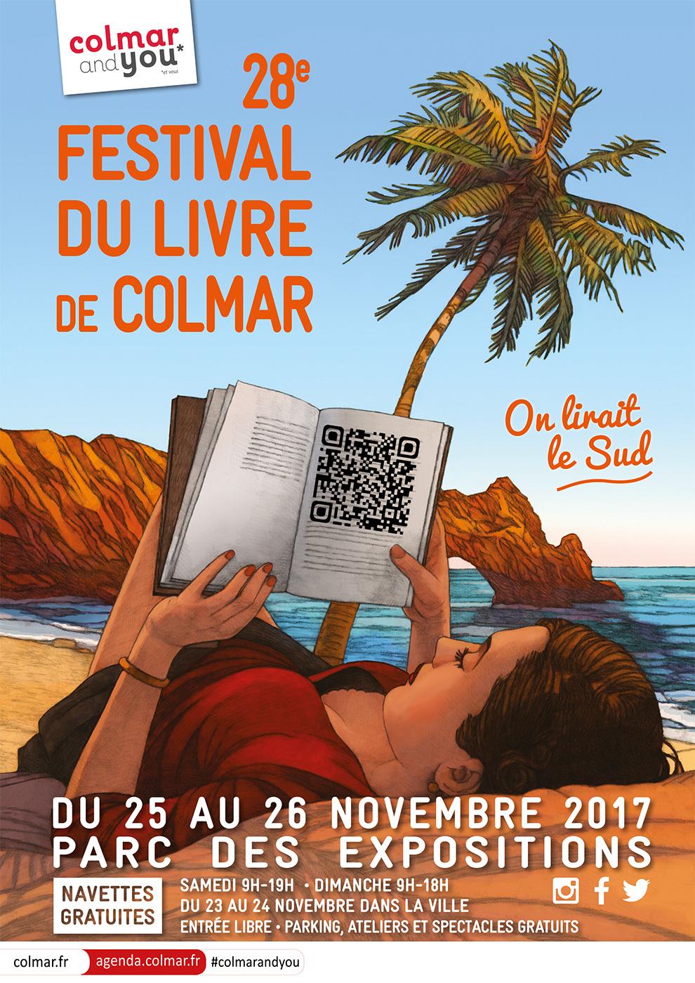L'affiche 2017 du festival du livre de Colmar