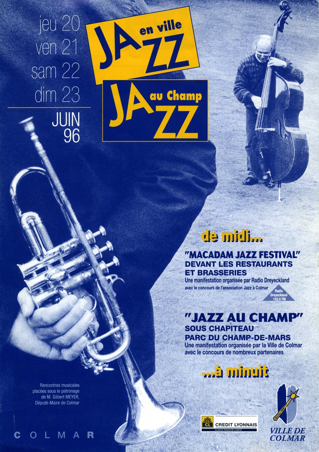 Couverture du programme du Festival de Jazz de Colmar 1996