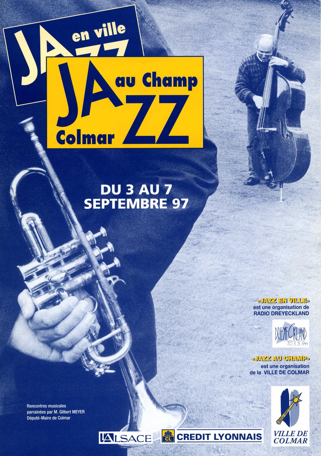 Couverture du programme du Festival de Jazz de Colmar 1997