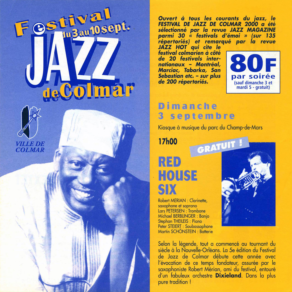 Couverture du programme du Festival de Jazz de Colmar 2000