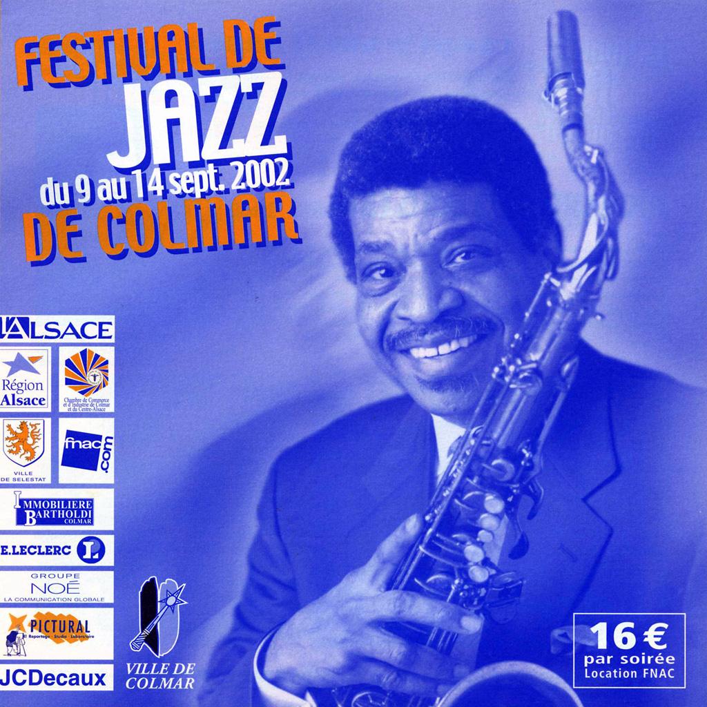 Couverture du programme du Festival de Jazz de Colmar 2002