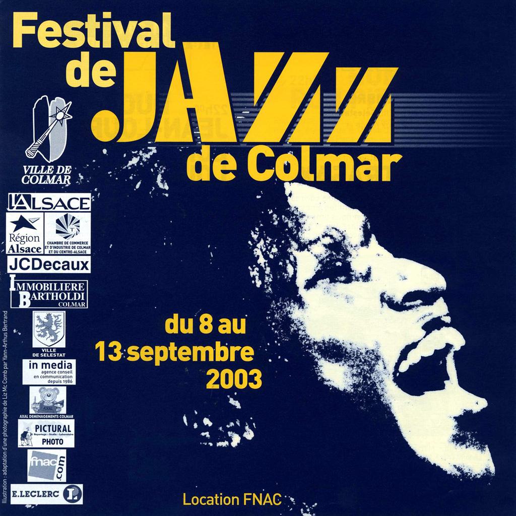 Couverture du programme du Festival de Jazz de Colmar 2003