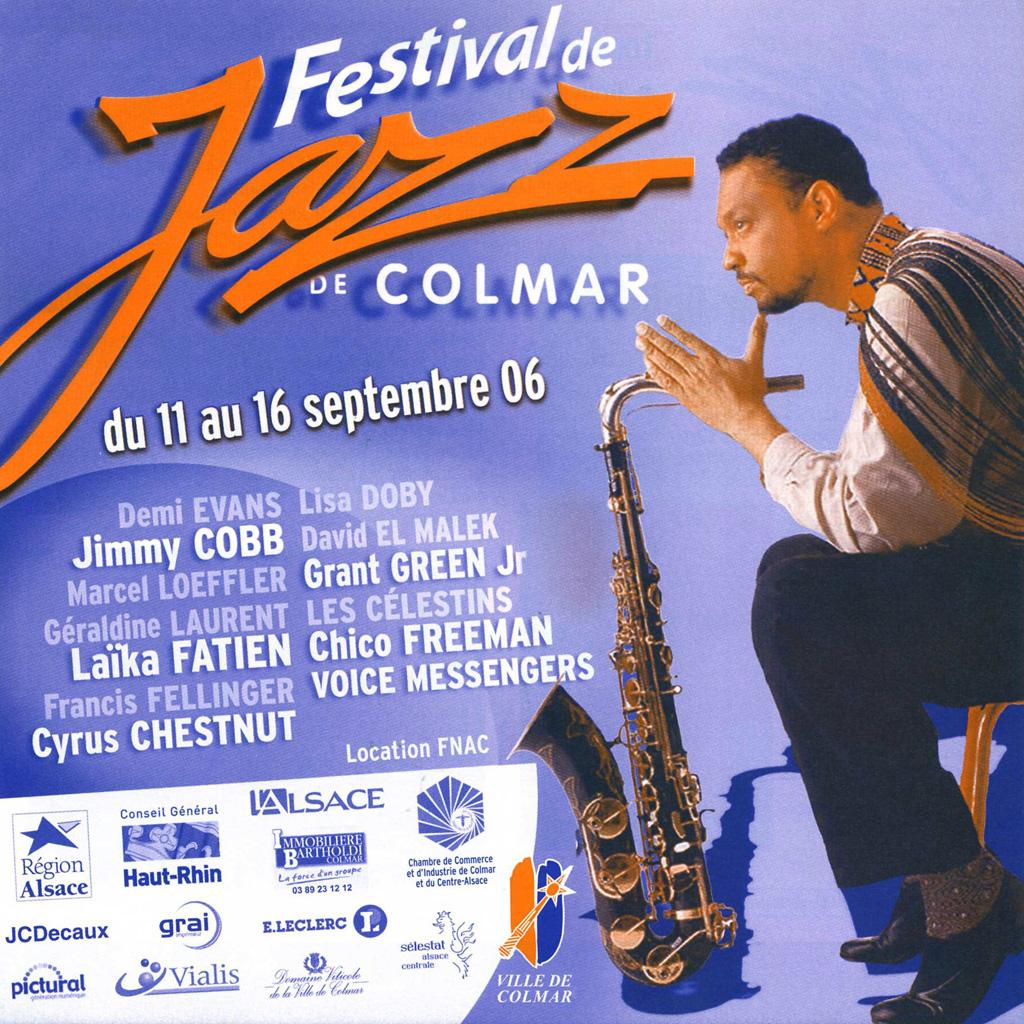 Couverture du programme du Festival de Jazz de Colmar 2006