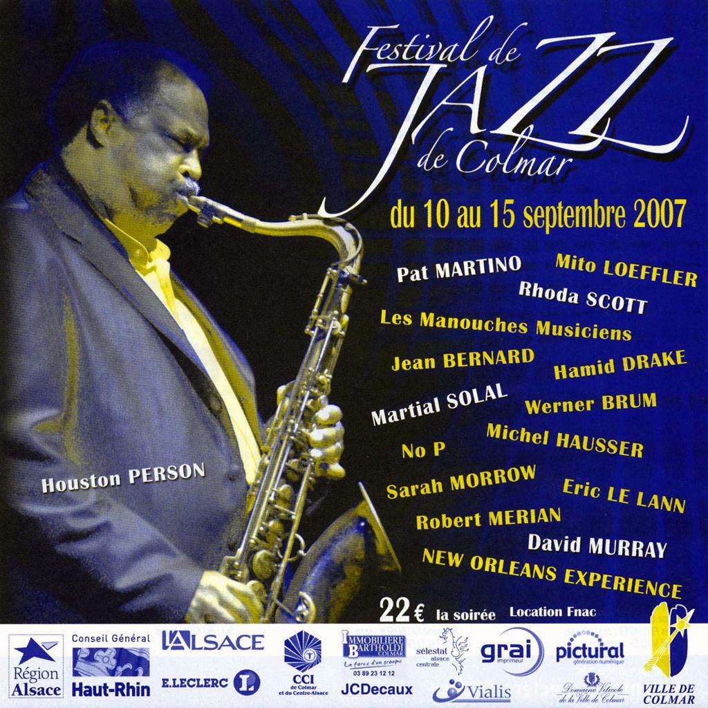 Couverture du programme du Festival de Jazz de Colmar 2007