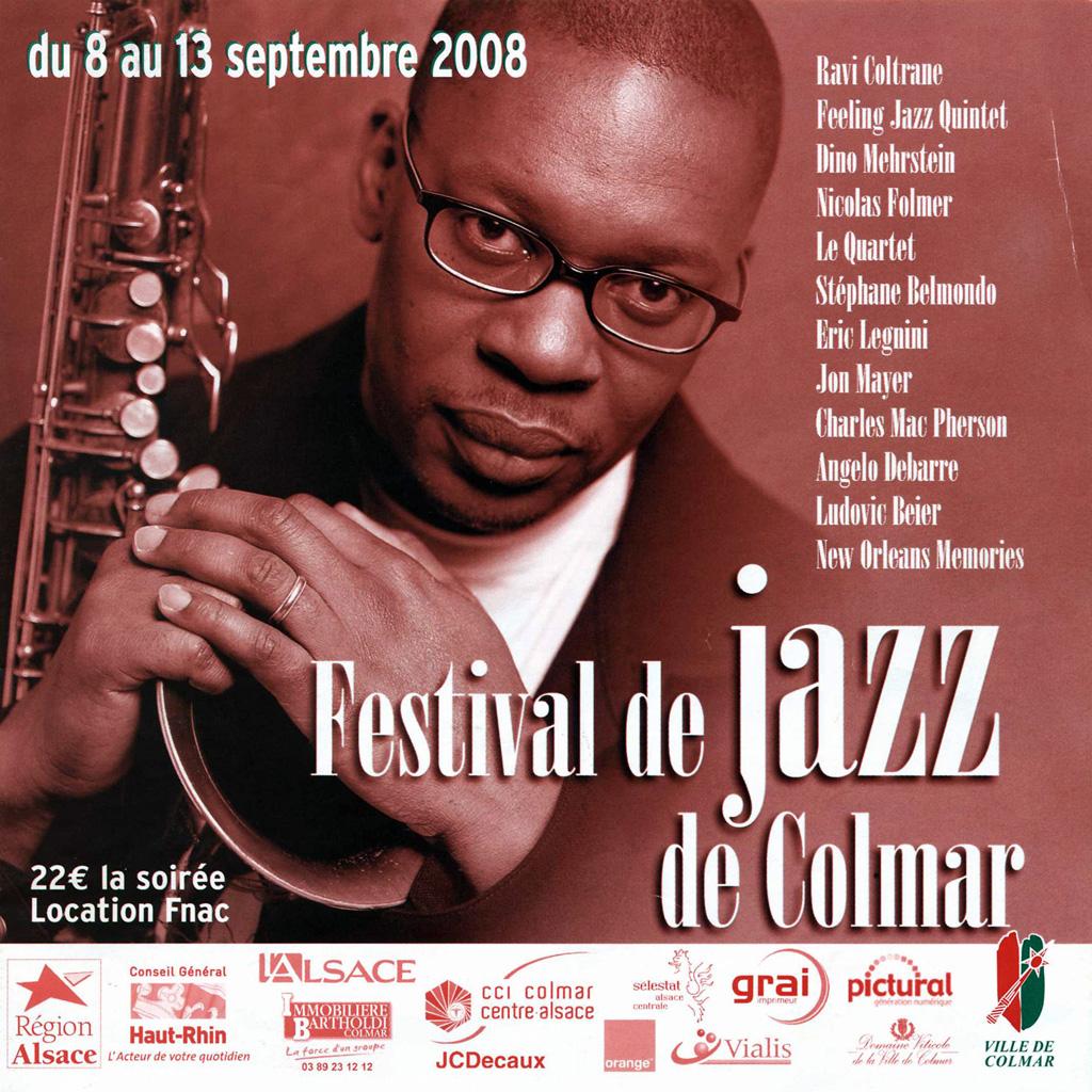 Couverture du programme du Festival de Jazz de Colmar 2008