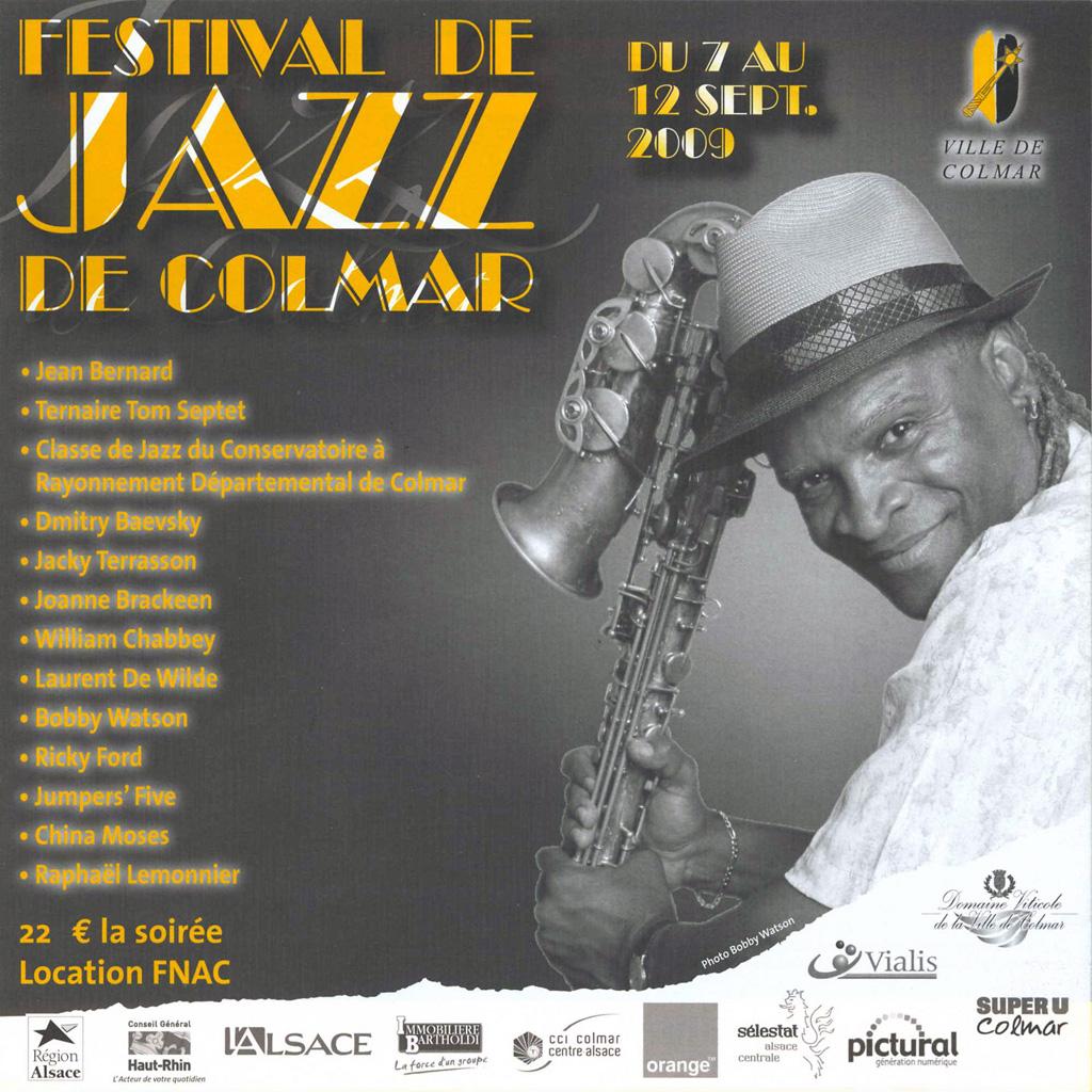 Couverture du programme du Festival de Jazz de Colmar 2009