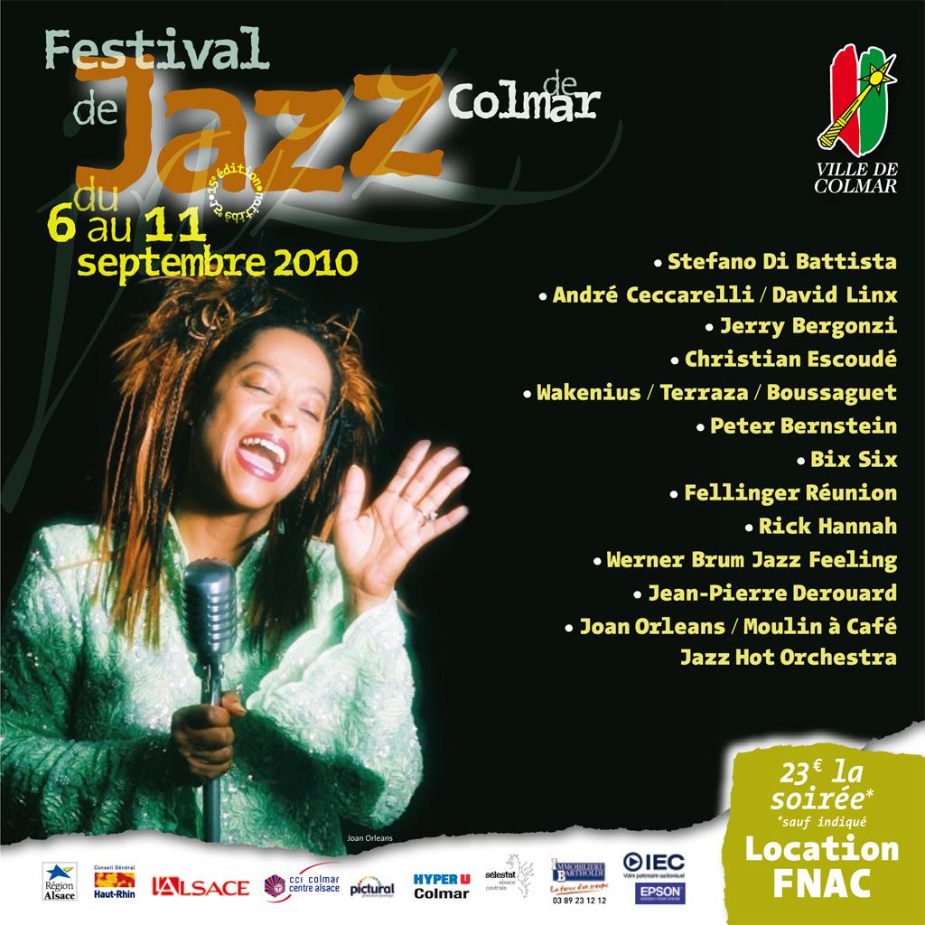 Couverture du programme du Festival de Jazz de Colmar 2010