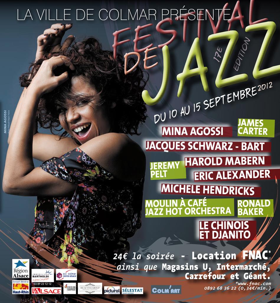 Couverture du programme du Festival de Jazz de Colmar 2012
