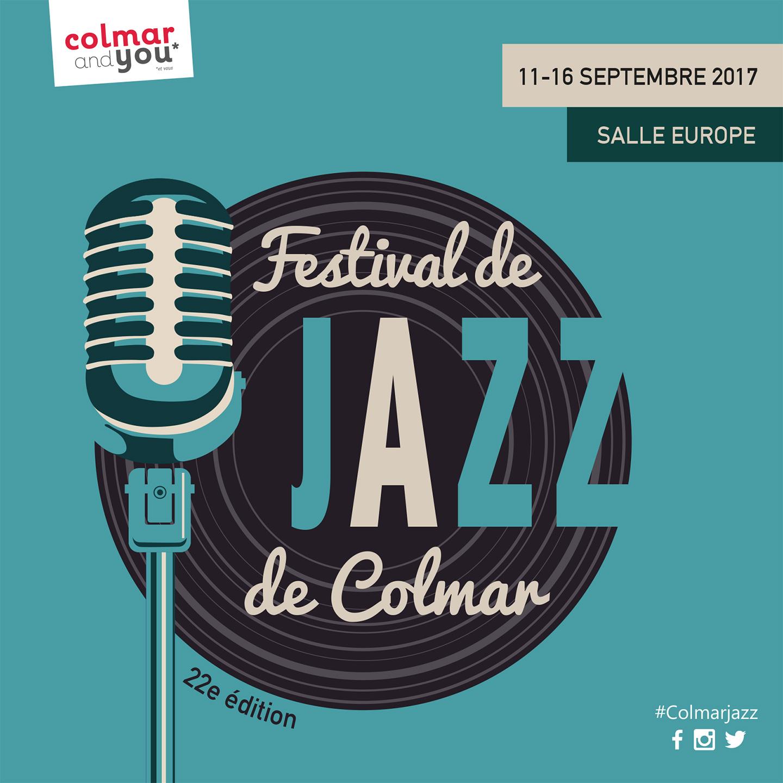 Visuel 2017 pour le festival de jazz de Colmar