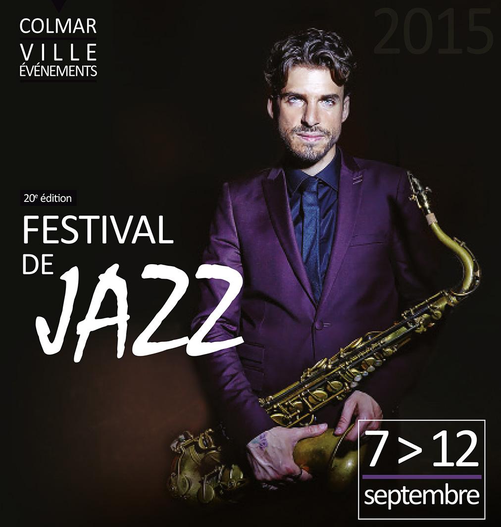 Couverture de la plaquette du festival de jazz de Colmar 2015