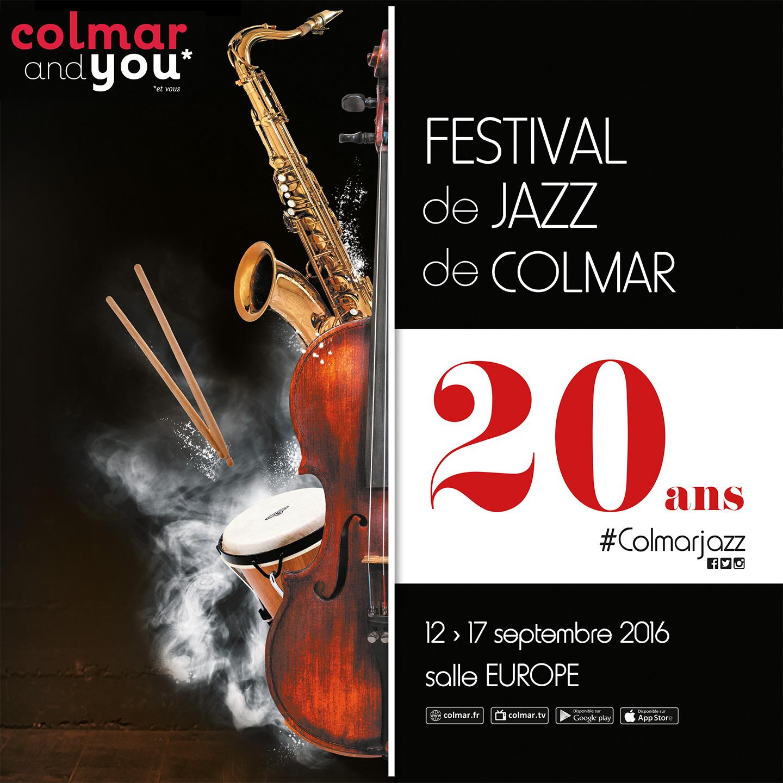 Visuel 2016 pour le festival de jazz de Colmar