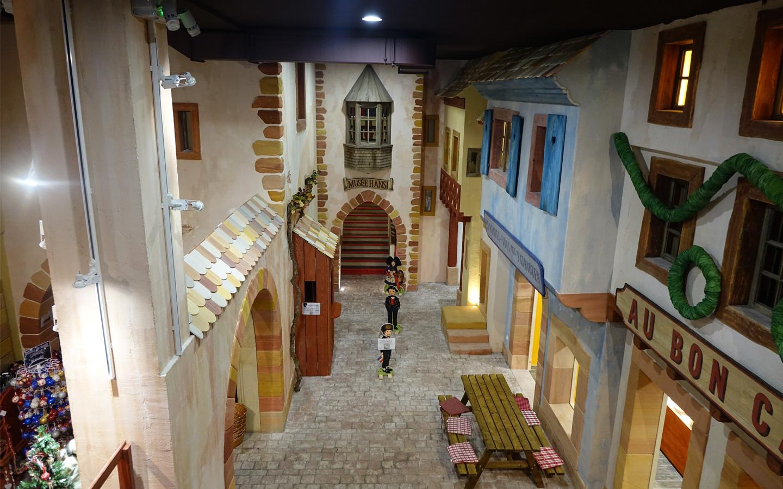 L'intérieur du musée Hansi