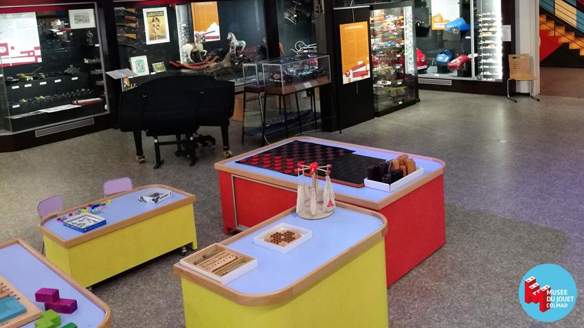 L'espace jeux au musée du jouet de Colmar