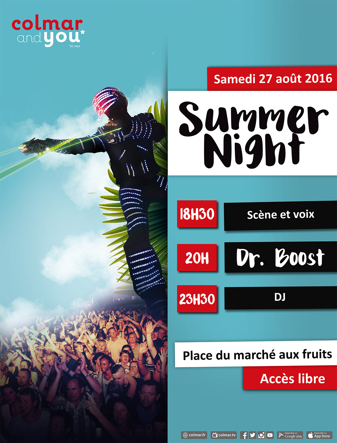 Visuel de la summer night 2016