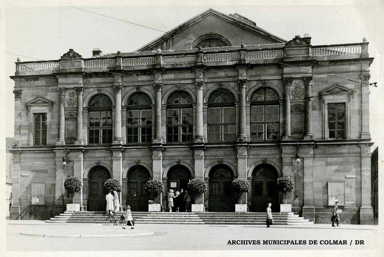 Photo d'archive de la façade du théâtre municipal de Colmar