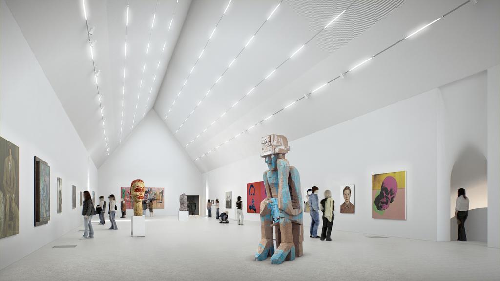 Salle d'exposition, nouvelle aile, 2ème étage ©Herzog & De Meuron