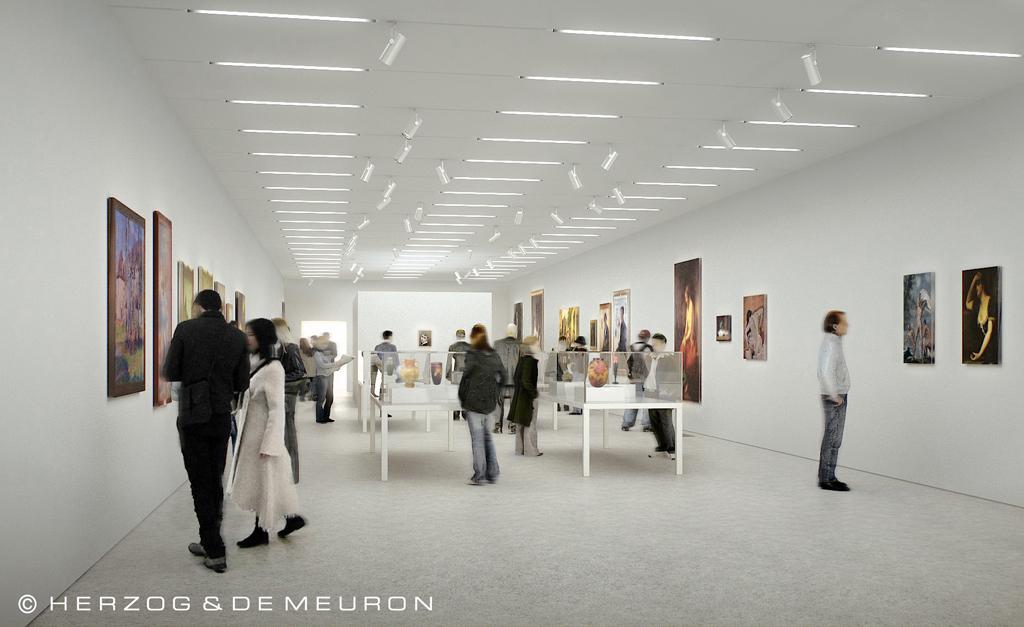 Galerie souterraine ©Herzog & De Meuron