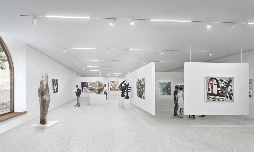 Salle d'exposition, nouvelle aile, rez de chaussée ©Herzog & De Meuron