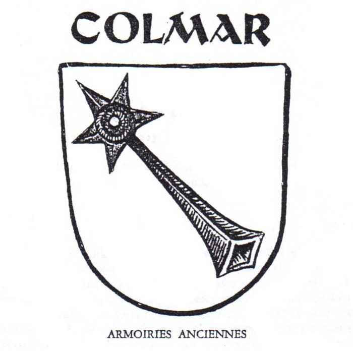 Les anciennes armoiries de la ville de Colmar