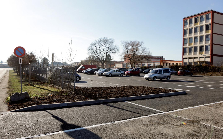 Le parking de covoiturage - rue Frédéric Chopin à Colmar