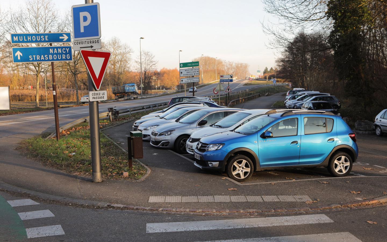 Le parking de covoiturage - rue de la Semm à Colmar