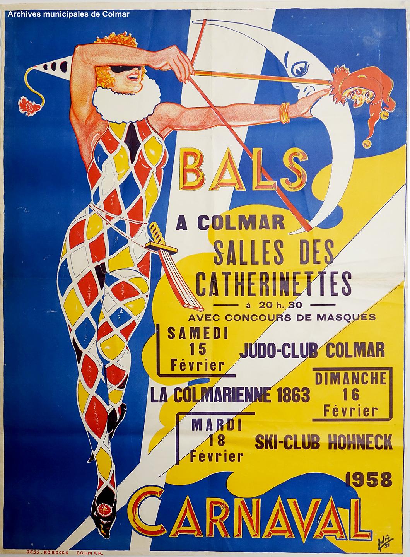 Affiche du carnaval de Colmar de 1958