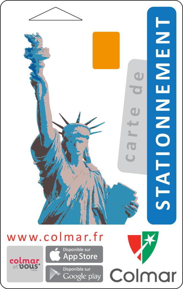 Carte de stationnement : bleu