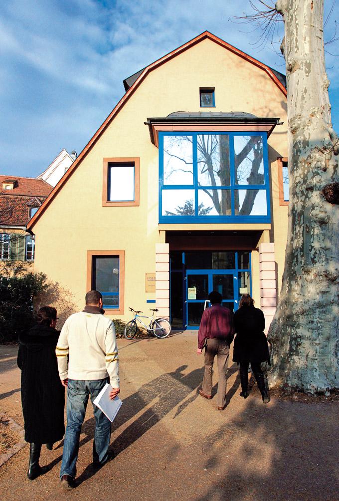 La façade du centre communal d'action sociale de Colmar