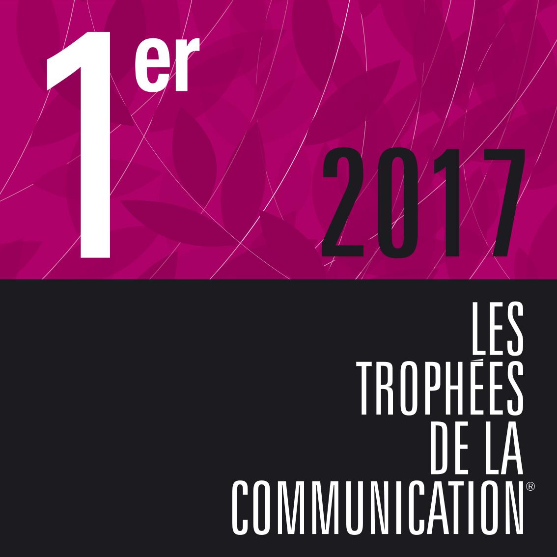 Visuel de la 1ère place 2017 des trophées de la communication