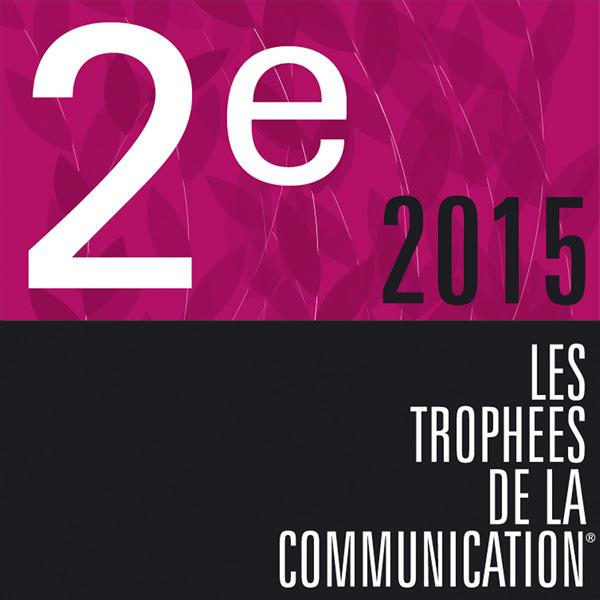 Visuel de la 2e place 2015 des trophées de la communication