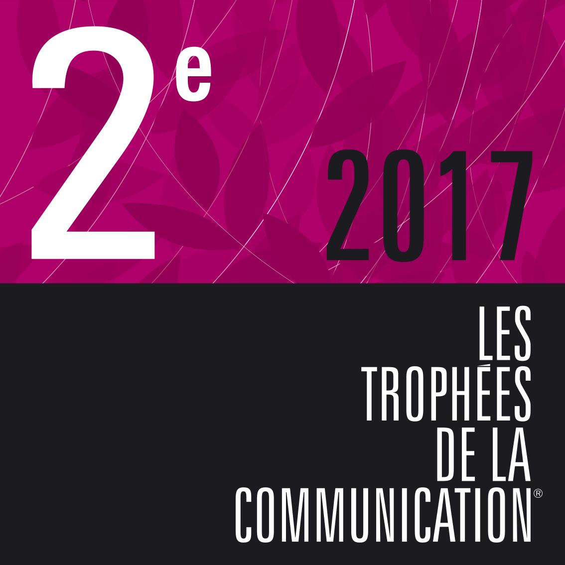 Visuel de la 2e place 2017 des trophées de la communication