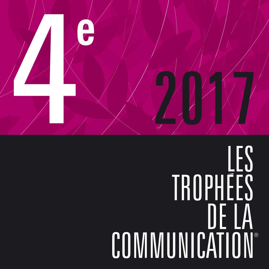 Visuel de la 4e place 2017 des trophées de la communication