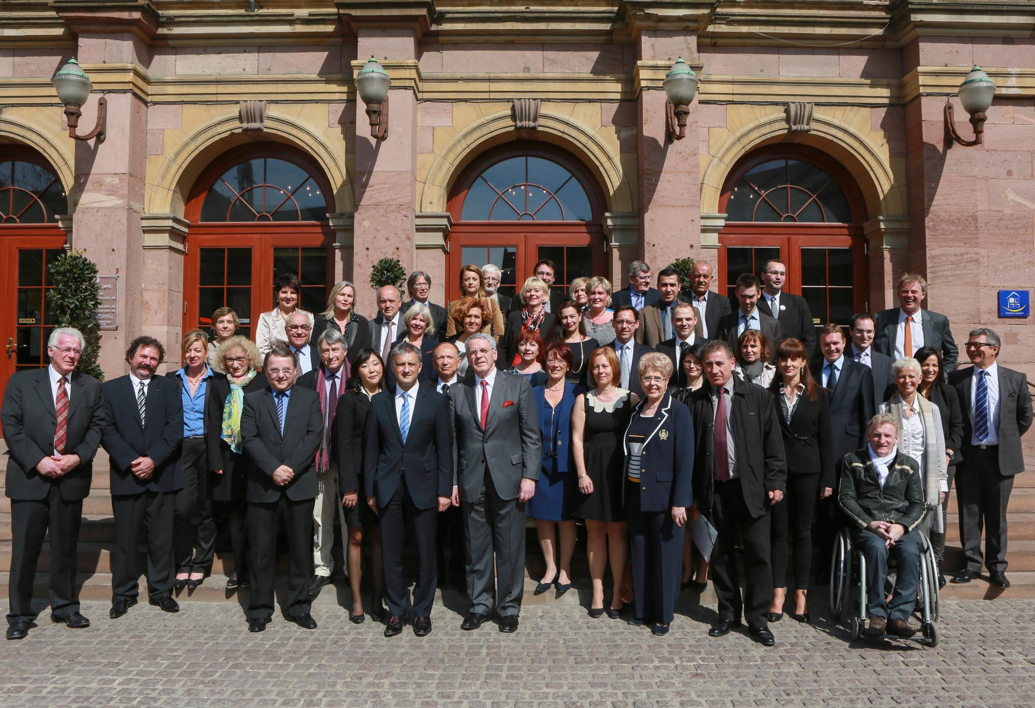 Les membres du conseil municipal, élus en mars 2014
